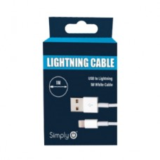 White iPhone 5/6/7/8 Lightning Charge & Sync Cable
