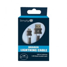 Black iPhone 5/6/7/8 Lightning Charge & Sync Cable